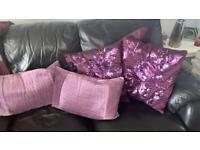 Cushion covers grape purple dusky lilac colour, x4, non smoking home