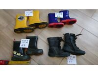 Kids wellies and boots, sizes 4,5,6