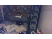 grey shabby chic tall cabinet