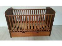 Brown Solid Wood Cot Bed