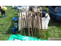 WALKING STICKS HANDCRAFTED FROM VARIOUS WOOD