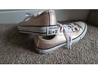 Sparkly pink girls/ladies size 3 converse trainers