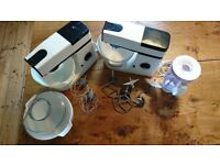 Kenwood food mixers x 2, both model 4901, c/w attachments.