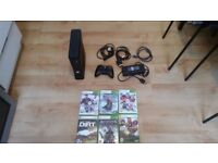Microsoft Xbox 360 Slim Kinect 4GB Matte Black Console (S4G-00006) +6 Top Games 1 CONTROLLER