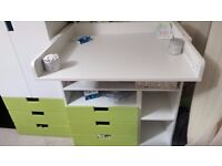 IKEA STUVA - Changing table with 3 drawers, Green