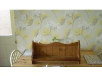 Pine kitchen shelf/plate display