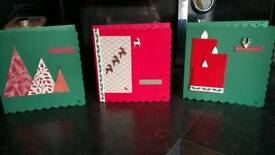 HANDMADE Christmas Cards x5