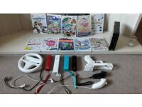 Wii console, handsets, accessories and games
