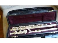 Solid Silver Flute Yamaha 411