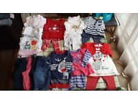 3 to 6 months baby girl clothes in very good condition