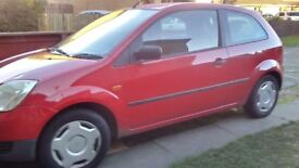 Red ford fiesta Car