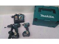 MAKITA 18v DHP458 DRILL &DTD153 Impact Drive