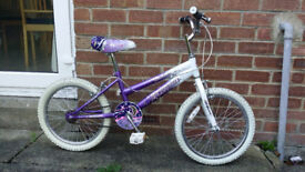 "Girl Bike 16"" wheel with purple motives"