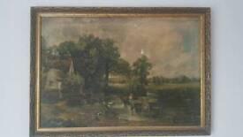 "Painting ""The Hay Wain"" 19 century"