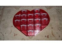 VALENTINES DAY RED HEART SHAPED CONTAINER 15 INCHES X 12 INCHES