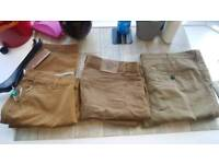3 chino adult trousers size 38 great condition
