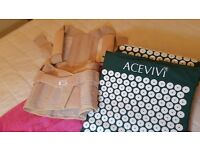 3 pieces back relief: G-Neo back corset+Acevivi acupuncture mat and pillow