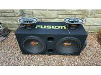 Car audio stereo subs speakers 6x9's amps power cap