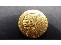 1914 Gold $5 USA coin Rare Denver Mint, Indian Head
