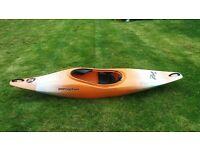 Perception Whiplash Whitewater Kayak with TNP Rapa Fibreglass paddle
