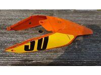 KTM orange and black used plastics