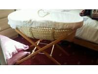 White Baby Basket