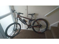 "Kona 'Dawg' Deluxe Mountain Bike in Brown, with 15"" Frame"