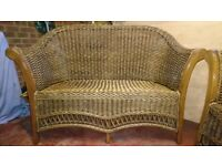 Two wicker conservatory sofas (each a two seater). Excellent condition.