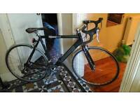Black Racing Road Bike with upgrades