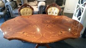 Beautiful dining table and six chairs