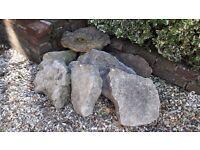 Decorative garden rocks x 8