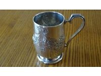 Antique Silver Christening Cup