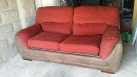 Leather and fabric sofa bed. Delivery.