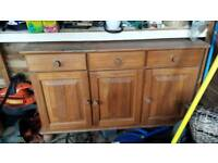 SOLD ...... Solid pine sideboard
