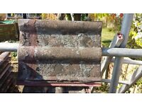 Vintage red concrete roof tiles, approximately 1500 tiles