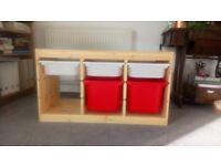 Ikea TROFAST storage, 5 trays, good condition.