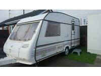 now sold.. 2 BERTH lightweight caravan with awning 1996