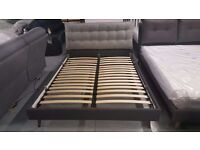 PRICE REDUCED Ex-Display FREYA King Size Bed Cushioned Headboard CAN/DEL View/Collect KIRKBY NG177