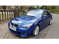 RARE 2007 BMW 535D M SPORT AUTO LE MANS BLUE CREAM LEATHER FULL SERVICE HISTORY HEADS UP DISPLAY