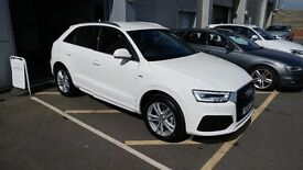 Audi Q3 S-Line 1.4T. Low miles, immaculate in and out. Warranty to 2020! Great spec