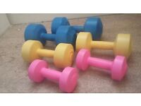 Selection of weights/dumbells