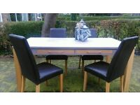Fabulous large chunky table and 4 chairs - can deliver £75