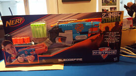 NERF SLEDGEFIRE- FIRES 3 BULLETS AT ONCE