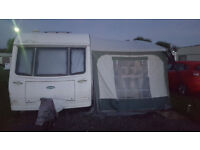 COACHMAN 520/4 PASTICHE CARAVAN 2000 4 BERTH WITH 2 BERTH AWNING ANNEX AND 2 BERTH INNER BEDROOM