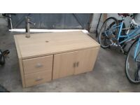 Free bathroom vanity unit with tap