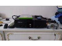 original Xbox with accessories and splinter cell game