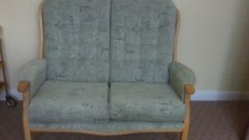 Settee and chair as new