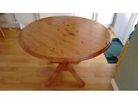 Pine dining table. Bought from Studio One in Morningside.