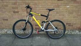 Mountain full suspension bike