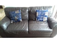 2 leather sofas a 2 seater and 3 seater in good condition no longer needed